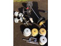 Weights bench & weights