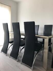 Harvey's dining table & chairs RRP £1500
