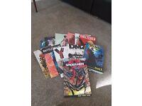 12 Graphic novels Saga, DMZ, Battlefields, Spawn plus others £60 ono