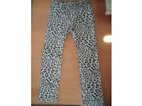 Girls Animal Print Trousers Age 5-6