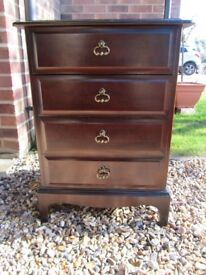 Small Stag chest of four drawers.