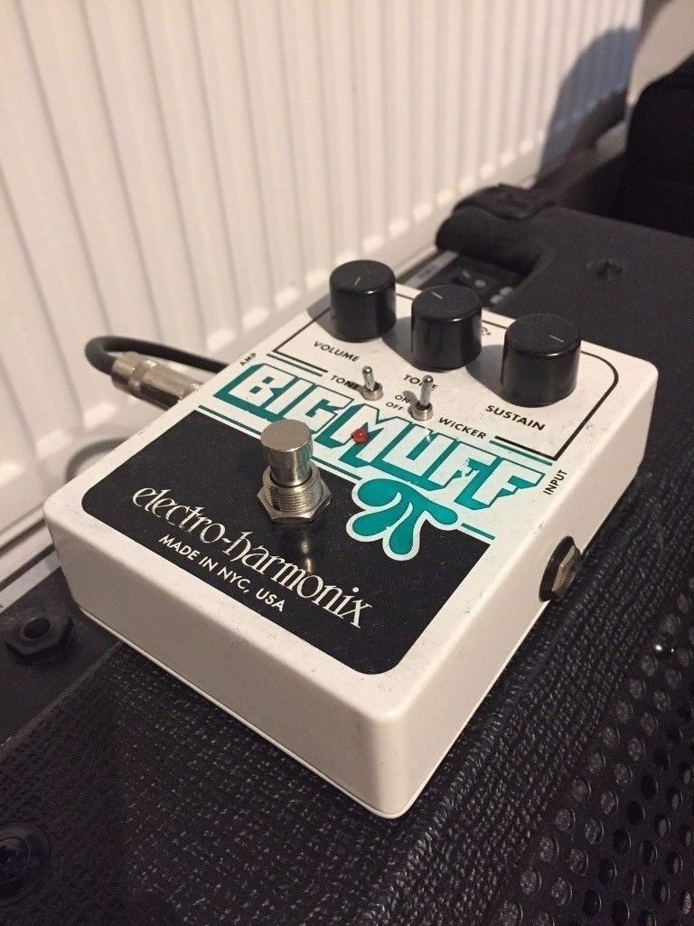 Electro Harmonix Big Muff Pi With Tone Wicker Guitar Effect Pedal