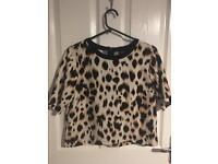 Topshop Leopard print top size 10
