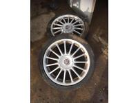 Mg Rover Zr Zs 18 inch Alloys with new tyres , Rare 1.4 1.8 turbo K Series 2.5 v6 Alloy x4