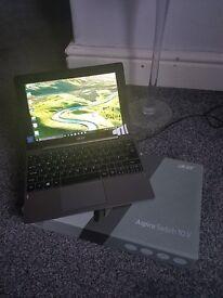 aspire switch 10 v acer laptop tablet 3 month old, bargain