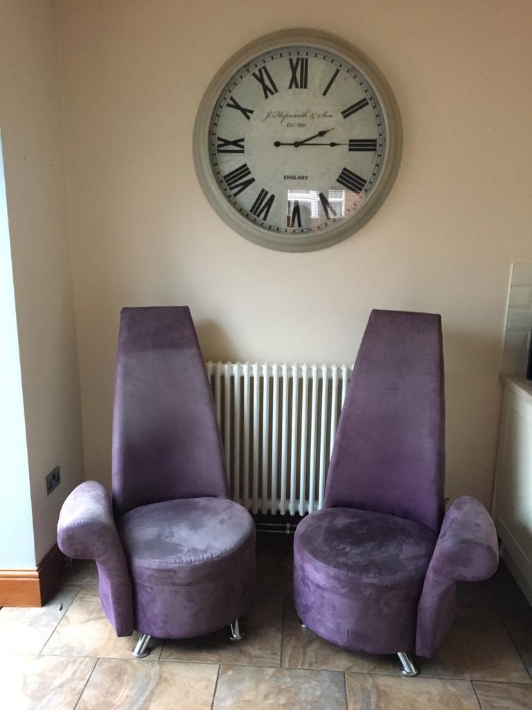 Purple High Back Chairs