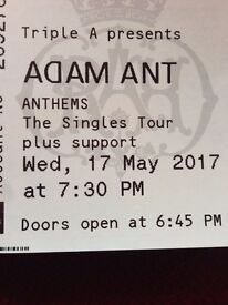 Adam Ant tickets (two)- The Royal Albert Hall, Wednesday 17th May