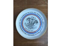 Royal Family Diana Collectable Marriage Dish Plate Vintage Marriage