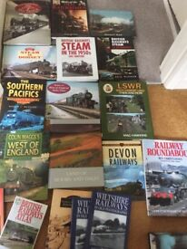 A collection of over 20 Steam Train Books