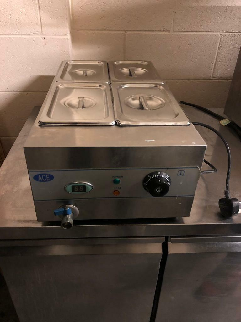 Commercial 4 pot ACE electric wet well bain marie,digital display,drain and  pots incl  good cond  | in Enfield, London | Gumtree