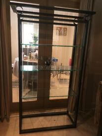 4 matching pieces of furniture. Glass/metal. Very good condition. Buyer collects