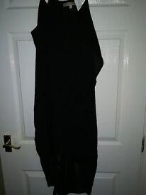 designer, black, chiffon floaty dress size12