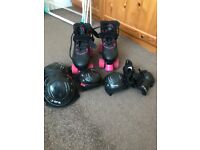 Rollerboots and set of pads