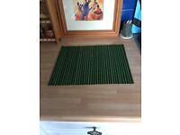 4 X GREEN/BLACK BAMBOO TABLE MATS - VGC