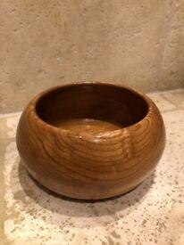 "Wooden fruit bowl - 8.5"" diameter - Solid oak wood"
