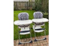 Joie Mimzy snacker high chair (one or two).