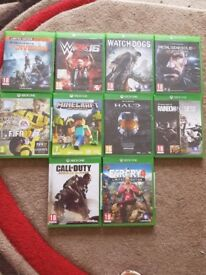 10 Xbox one games £40