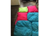 Bright and colourful outdoor scatter bean bags
