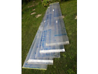 """16mm Clear Multiwall Polycarbonate sheets-new with wrapping still on. Size 57cm (23"""") x 311cm (123"""")"""