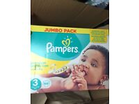 Pampers nappies brand new unopened box
