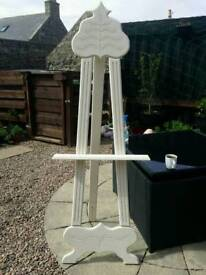 Wedding white wooden easel