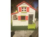 Smoby Floralie duplex two story playhouse