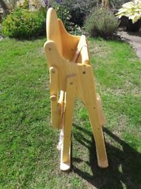Woodern mothercare highchair