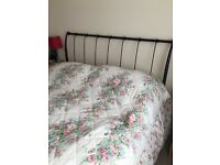 Iron bed with mattress for sell