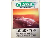 APPROX 100 CLASSIC CAR MAGAZINES