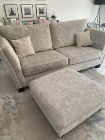 Miley SCS 3 Seater sofa & footstoole