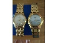 2 gold watches for sale, mint condition.