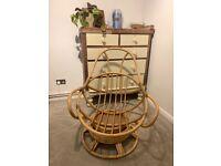 Beautiful vintage handmade bamboo chair