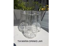 Tia Maria mason jar style glasses for sale