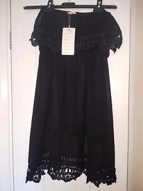 Off the shoulder summer black dress