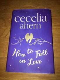 Cecelia Ahern How to Fall in Love hardback book