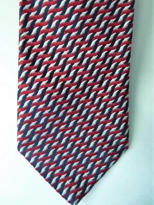 Charvet lieu vendôme bleu rouge blanc cravate soie tissée