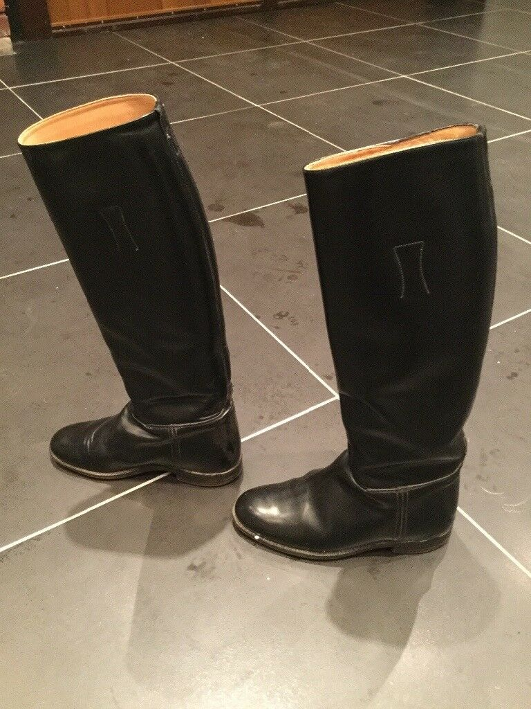 Ladies tall leather Regent riding boots