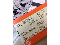Two tickets from Glasgow to London! £45 each