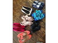 Assortment of 7 pairs of new shoes size 38/39