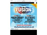 x2 tickets for Saturday Fusion £50.00 for the pair no offers