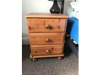 Going cheap! £5 bedside table in pine. Solid