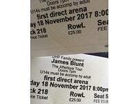 James blunt tickets x 2 Leeds