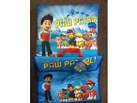 Paw patrol bag and cushion