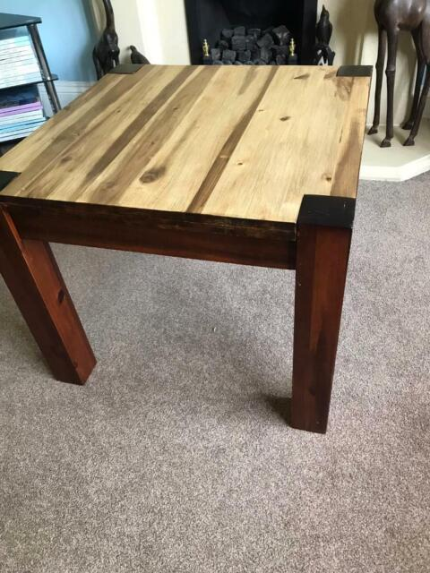 Amazing Solid Mexican Pine Square Coffee Table Excellent Condition H20In 51Cm W23 5In 60Cm D23 5In 60Cm In Bassaleg Newport Gumtree Machost Co Dining Chair Design Ideas Machostcouk