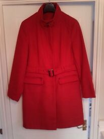 SEASONAL RED WINTER COAT RED SIZE 18 WORN ONCE M&Co IMMACULATE