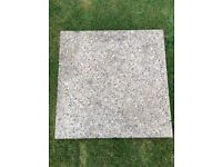 24 concrete pebble dash paving slabs 600mm by 600mm 38mm (24inch by 24inch 1 1/2inch thick)