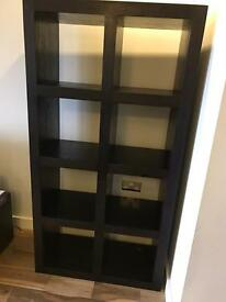 Kudos Dark Wood Large Eight Shelf Bookcase