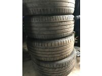 4 Audi A3 summer tyres - used but still have some wear remaining