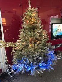 GOLD TINSEL CHRISTMAS TREE 6ft high quality