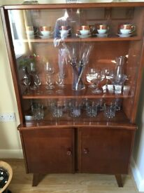 Antique Glass and Wood Unit